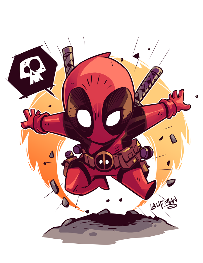 181 chibi deadpool by derek laufman