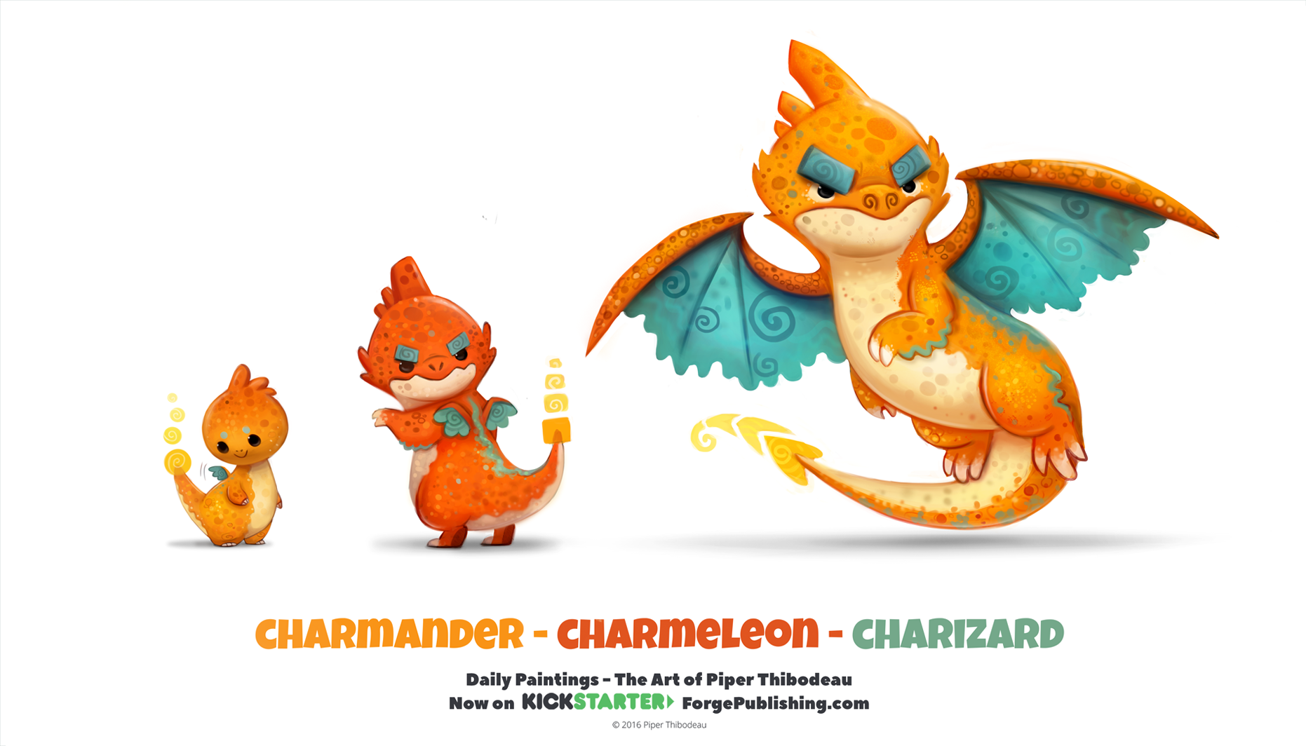 daily_1318__charmander__charmeleon__charizard_by_cryptid_creations-da8efj1